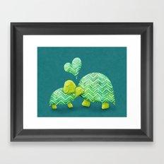 Turtle Hugs Framed Art Print