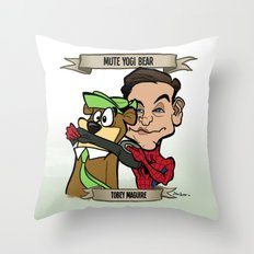 Mute Yogi Bear (Tobey Maguire) Throw Pillow