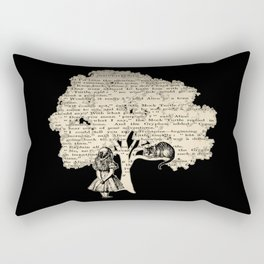 Alice In Wonderland Vintage Book Rectangular Pillow
