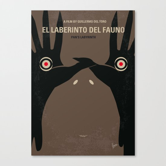 No061 My Pans Labyrinth minimal movie poster Canvas Print