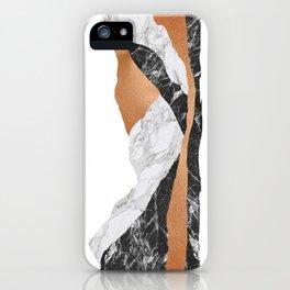 Marble Landscape I, Minimal Art iPhone Case
