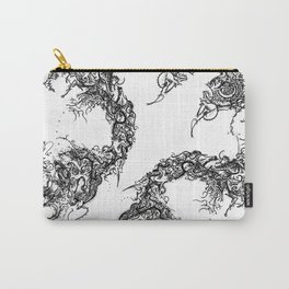 Study in Symmetry (No. 2) | Black & White Carry-All Pouch