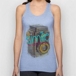 Smile, i'm watching you Unisex Tank Top
