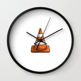 Cone Illustration Wall Clock