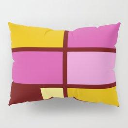 Mondrianista yellow fuchsia Pillow Sham