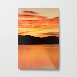 Tangerine Sky Metal Print