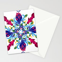 Moroccan Rose Tile Pattern Stationery Cards