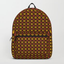 Yellow And Brown Circle Geometric Patterns Backpack