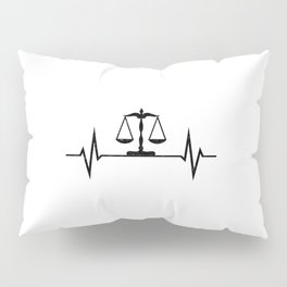Scales Of Justice Heartbeat Lawyer Judge Pillow Sham