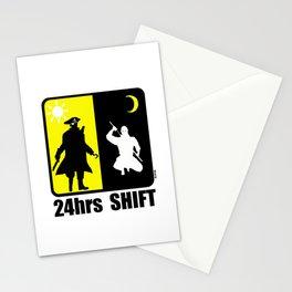 Pirate at day, ninja at night, 24hr shift Stationery Cards