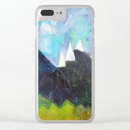 Matterhorn Cirque Mountain Peaks Clear iPhone Case