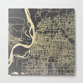 Memphis map Metal Print