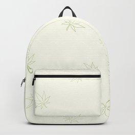 Cannabis Leaves Print Backpack