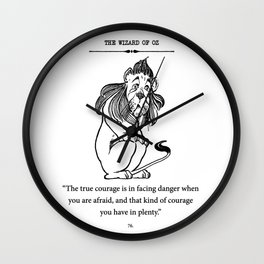 Cowardly Lion Wall Clock