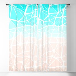 Pastel Geometric Abstract Low Poly Beach Gradient Blackout Curtain