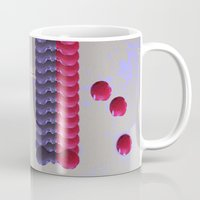 nail polish Mugs featuring Nail Polish Glitch by Marie Mars