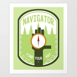 Navigator- Find Your Way - Color Art Print