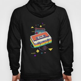 Retro cassette and stereo system for 80s and 90s Hoody