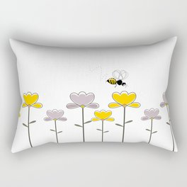 "Let it ""bee"" Rectangular Pillow"