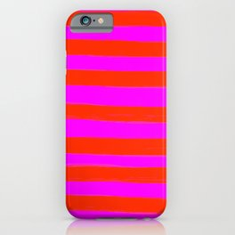 Sweet Stripes in Pink and Red Line Art #decor #society6 #buyart iPhone Case