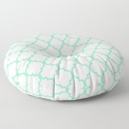 Moroccan Trellis (Mint & White Pattern) Floor Pillow