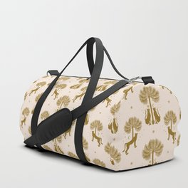 Magical Jungle Dream / Gold and Cream Duffle Bag