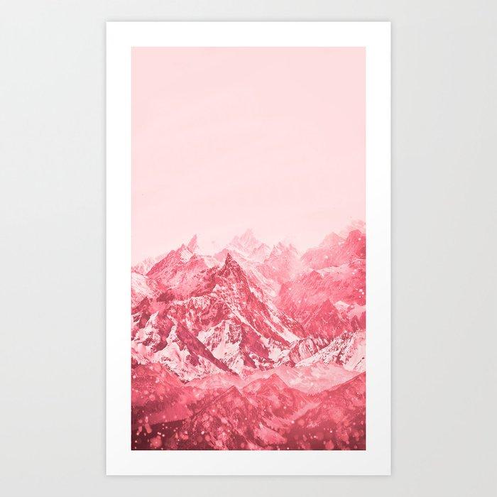 Mountains Red Kunstdrucke