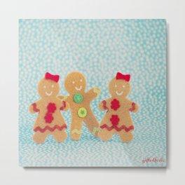 Gingerbread peeps Metal Print
