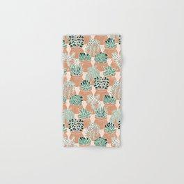 Succulent's Tiny Pots Hand & Bath Towel