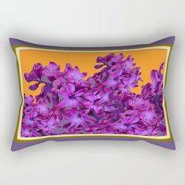 Decorative Purple Hyacinths Puce-Orange Color Art Rectangular Pillow