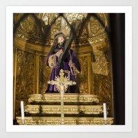 christ Art Prints featuring Christ by Sébastien BOUVIER