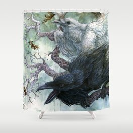 Thought and Memory Shower Curtain
