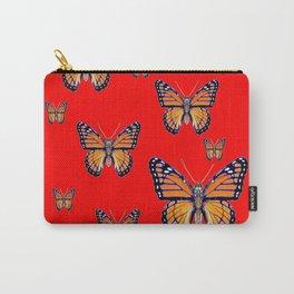 RED ART MONARCH BUTTERFLIES Carry-All Pouch