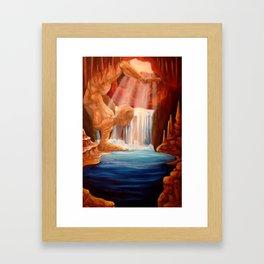Balance Series - Sunrise Caves Framed Art Print
