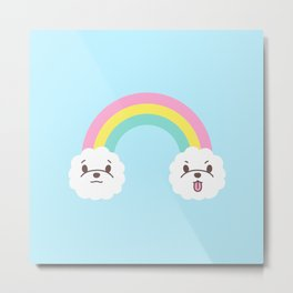 Rainbow Bichon Metal Print