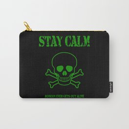 Stay Calm Pirate Flag Carry-All Pouch