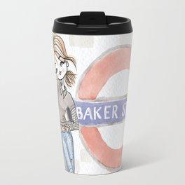 Woman at Baker Street Travel Mug