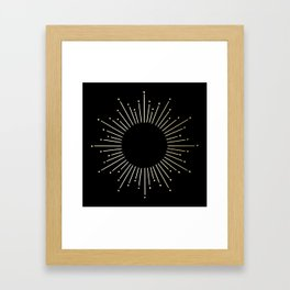 Mod Sunburst Gold 1 Gerahmter Kunstdruck