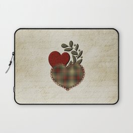 Red & Green Plaid Heart Love Letter Laptop Sleeve