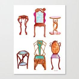 Antique furniture Canvas Print