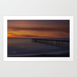 Nags Head Pier Long Exposure Sunrise Art Print