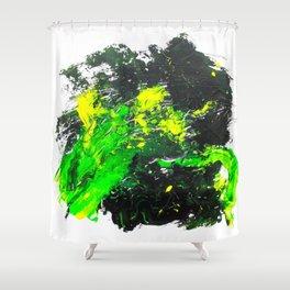 Paint it black V Shower Curtain