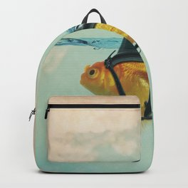 Goldfish with a Shark Fin RM02 Backpack