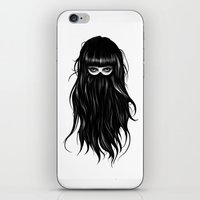 orange iPhone & iPod Skins featuring It Girl by Ruben Ireland