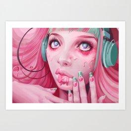 FaceMelt Art Print