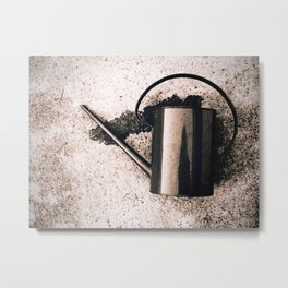 Watering Can, Dying Metal Print