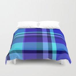 Blue Plaid Pattern Duvet Cover