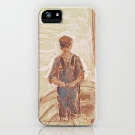 Fisherman, Isle of Shoals 1903 by Childe Hassam iPhone Case