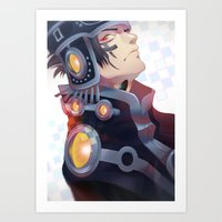 dramatical murder Art Prints featuring DRAMAtical Murder: Ren by magemg