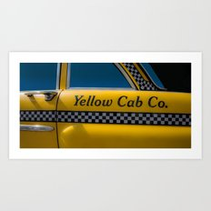 Yellow Cab Co. Art Print